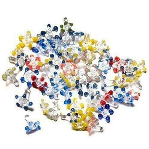 200 Count assorted Glass Daisy Style Pipe Screens(plastic Container)