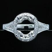 White Gold Semi Mount Oval