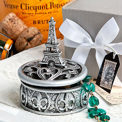 Parisian Themed Bridal Shower (12 Eiffel Tower Curio Boxes Parisian Paris Themed Bridal Shower Wedding)