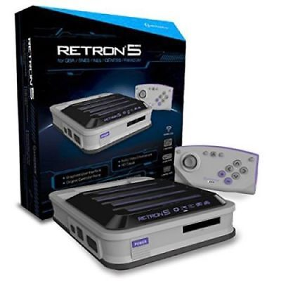 Grey Systems - Hyperkin Retron 5 Retro Video Gaming System GREY Lowest Price Newest Edition!