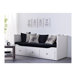 Daybed with 3 drawers/2 mattresses, white