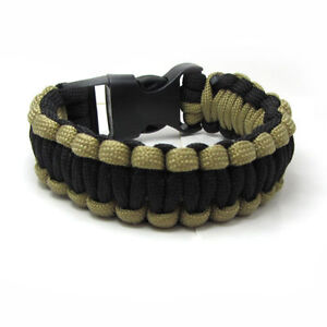 550 Paracord Outdoor Survival Rope Escape Emergency Wristband