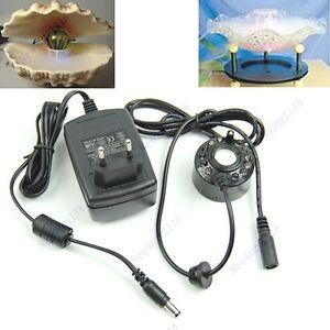 12-LED-Ultrasonic-Mist-Maker-Fogger-Water-Fountain-Pond-New