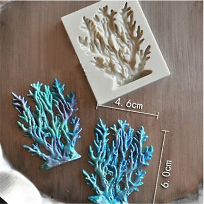 Ocean Coral  Silicone Mould Chocolate Candy Sugarcraft Baking Cake Adorn Mold