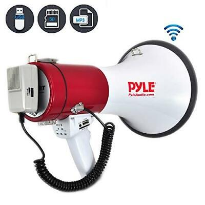 Pyle Megaphone Speaker Pa Bullhorn With Built-in Siren - 50 Watts Adjustable