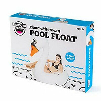 New BigMouth Inc Giant White Swan Pool Float Raft Tube Over 4 Feet Wide Ages 8+](Pool Swan)