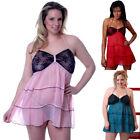 Chiffon Plus Solid 2X Sleepwear & Robes for Women