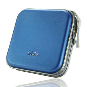 40-Disc-Double-side-CD-DVD-Storage-Case-Organizer-Holder-Hard-Wallet-Album-Blue