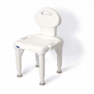 Invacare 9781 I Fit Heavy Duty Bariatric Shower Bath Bench Chair Seat with Back