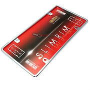 Plain Chrome Metal License Plate Frame