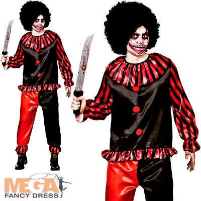 Deadly Clown Mens Fancy Dress Circus Horror Adults Halloween Costume Outfit ](Dead Clown Costumes)