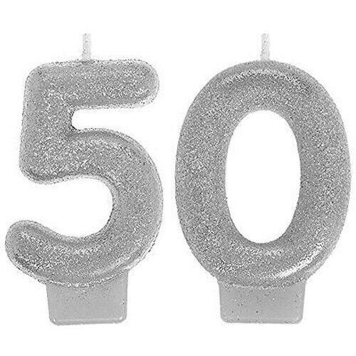 Numeral Candles Sparkling Celebration 50