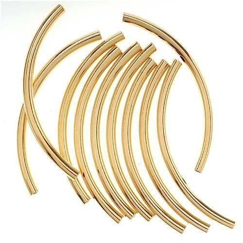 Curved noodle tube bead ebay
