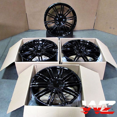 21x10 Wheels For Porsche Cayenne Touareg Audi Q7 Gloss Black 5x130 Rims 21 Inch
