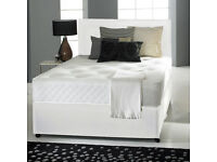LIMITED OFFER !! NEW KING SIZE DOUBLE DIVAN BED BASE WITH DEEP QUILT SEMI ORTHOPAEDIC MATTRESS