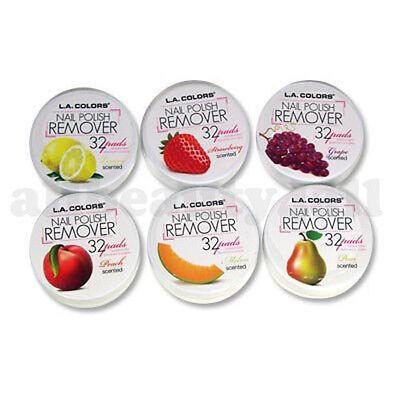 LA Colors Nail Polish Remover Pads Acetone Free Soak Off 6 Fruit Scents 192 Pads