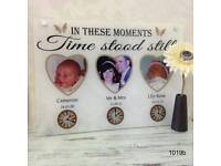 Personalised moments in time plaques