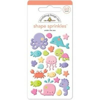 Scrapbooking Crafts Doodlebug Sprinkles Under the Sea Creatures Whale Pink - Under The Sea Crafts