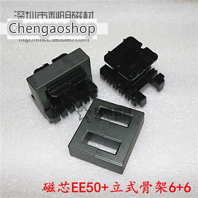 2set Ee50 66pins Ferrite Cores Bobbin Transformer Core Inductor Coil Q44 Zx