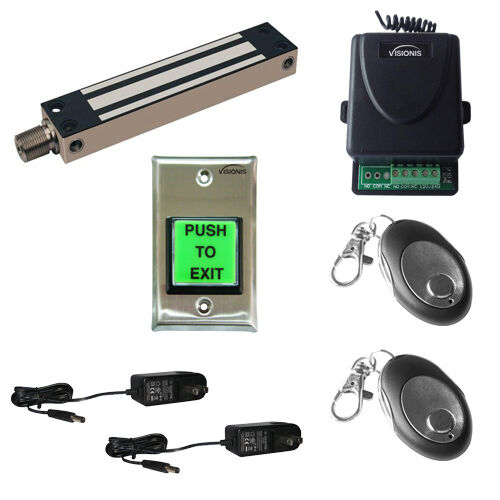 Visionis FPC-5194 One door Access Control Kit Magnetic Outdoor Gate Lock 800lbs