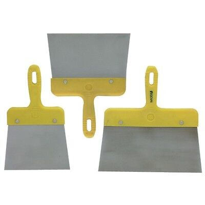 Taping Knife Set Drywall Jointed Scraper Putty Plaster Flex Steel Spatula 3 Pack