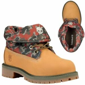 Brand new !! Timberland Unisex KIDS Roll-Top Leather Boots $ 45