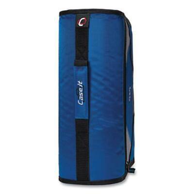 Case It D-186blu King Size Mighty Zip Tab Binder 3 Rings 4 Capacity 11 X
