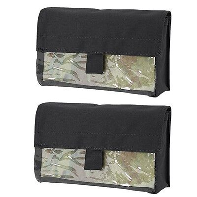 Condor Outdoor Hunting & Hiking Tactical Vinyl Insert Utility Pouch Black 2 Pack