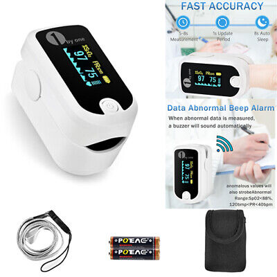 Finger Tip Pulse Oximeter Monitor Saturation Blood Oxygen Meter Spo2 Heart Rate