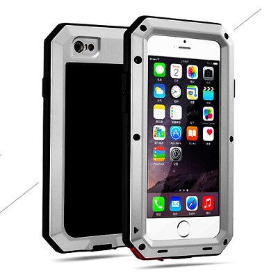 Shockproof Aluminum Gorilla Glass Metal Case Cover for iPhone Xs Max 6S 7 8 Plus