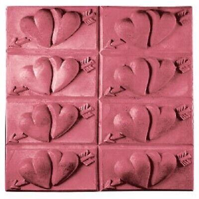 Milky Way Hearts with Arrow Soap Mold Tray, NEW. Clear PVC. 8 Full Size Bars