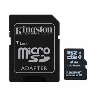 Kingston 4GB Micro SD SDHC TF Memory Card Class 4 with SD Ad