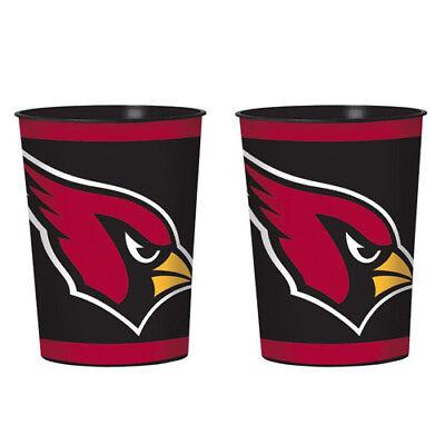 NFL Arizona Cardinals REUSABLE KEEPSAKE CUPS (2) ~ Birthday Party Supplies Favor](Cardinal Party Supplies)