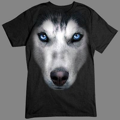 Husky Big dog Face Hunde Schlittenhund haski T-Shirt *3248