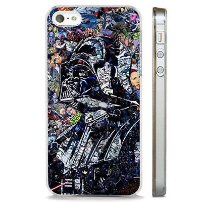 Darth Vader Star Wars Collage Art CLEAR PHONE CASE COVER fits iPHONE 5 6 7 8 X