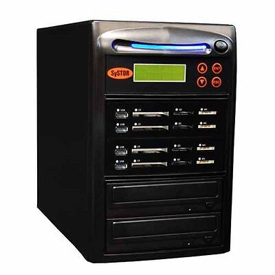 Systor 1:3 USB/SD/CF/MS Flash Memory Combo Drive Duplicator - CD DVD Disc Copier