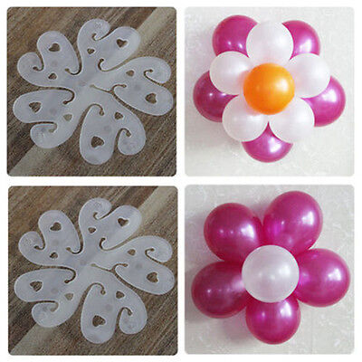 10/20Balloon flower clips ties for decoration decorative part accessories holder - Part Decoration