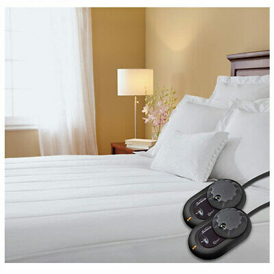 Sunbeam Thermofine Quilted Striped Heated Electric Mattress