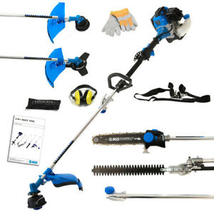 52cc 5in1 Cutting Multi Tool Garden Set: Chainsaw Trimmer Strimmer Brush Cutter