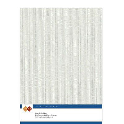 (EUR 4,81/m²) Leinenkarton 10xA4-Bogen lichtgrau 24