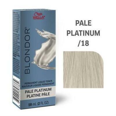 Blondor Permanent Liquid Hair Toner /18 Pale Platinum