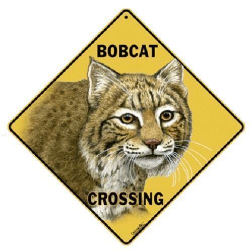 "Bobcat Metal Crossing Sign 16 1/2"" x 16 1/2"" (HANGING) Diamond shape #331"