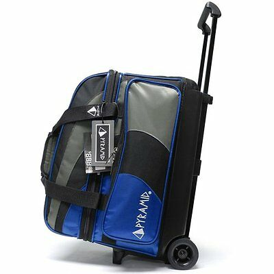 Bowling Ball Bag 2 Ball Roller Pyramid Path Deluxe Royal Blue And Silver