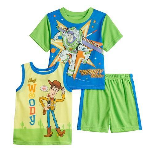 DISNEY Toy Story Buzz & Woody 3 PC Pajama Set, NEW  2T 3T 4T 5T Toddler Boys pjs