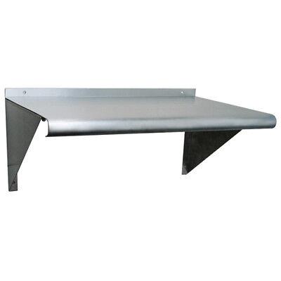 Stainless Steel Wall Mount Shelf 12 Deep