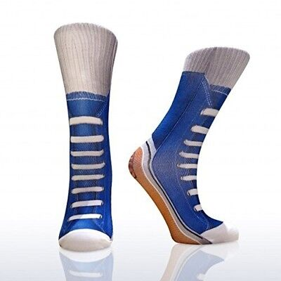Mask Costumes Ideas (Kids Fun Novelty Pair of Socks Blue Sneakers Costume Accessory or Gift)