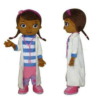 Disney Doc Mcstuffins Mascot Costume Fancy  Parade Cosplay Adult Size festival   (Doc Mcstuffins Adult Costume)
