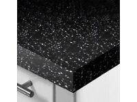 WilsonArt Strasse Noir /Astral Black Square Edge Worktop 3000x600x40mm