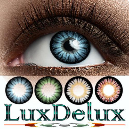 Strong-Intensive farbige Design-Kontaktlinsen:JERRY-PUR *12 MONATE* Blickfänger!