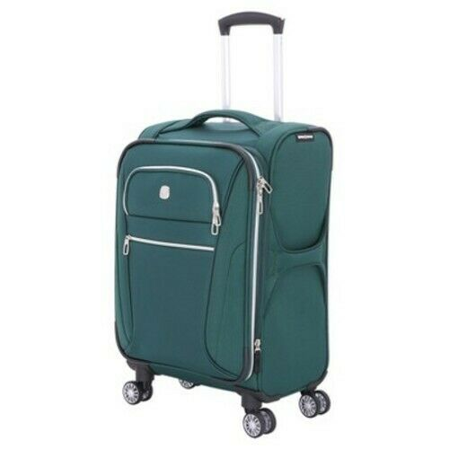 Swiss Gear Checklite 20″ Carry On Suitcase, June Bug Green NIB Luggage